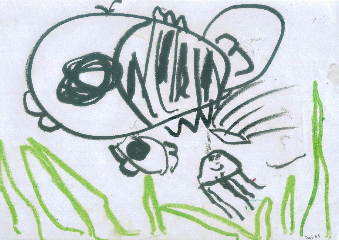 童真童真107:牛牛的涂鸦20130405 - 江苏无锡刘海 - 思想者工作室